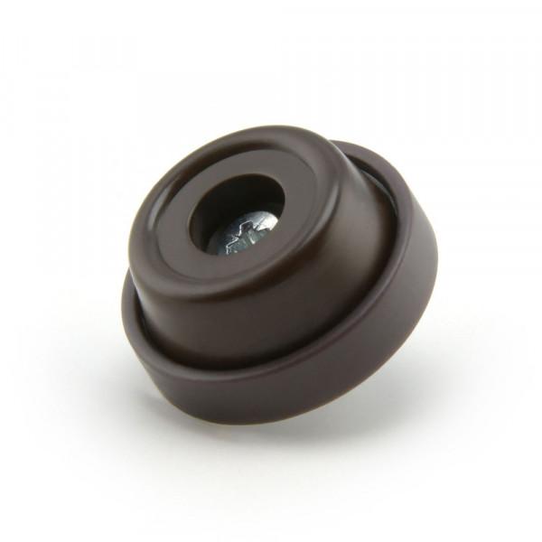 Schraubstopper 28 mm braun