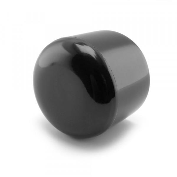 Runde Kappen schwarz 32 mm