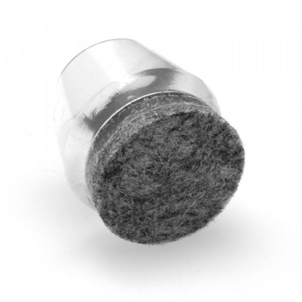 Filz Fusskappen transparent 12-15 mm