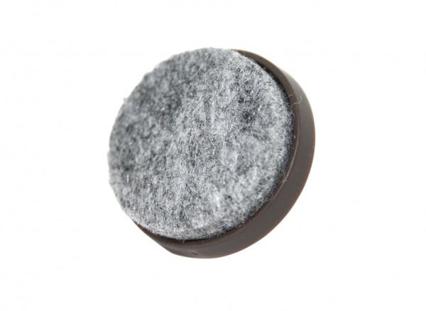 Filzgleiter mit Nagel - braun Ø 24 mm