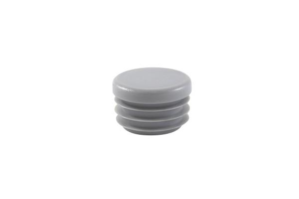 Runde Stopfen grau 12 mm