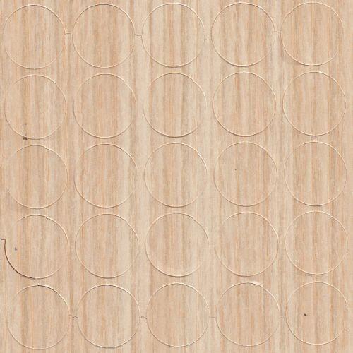 Abdeckkappen Sand-Zebrano 14 mm