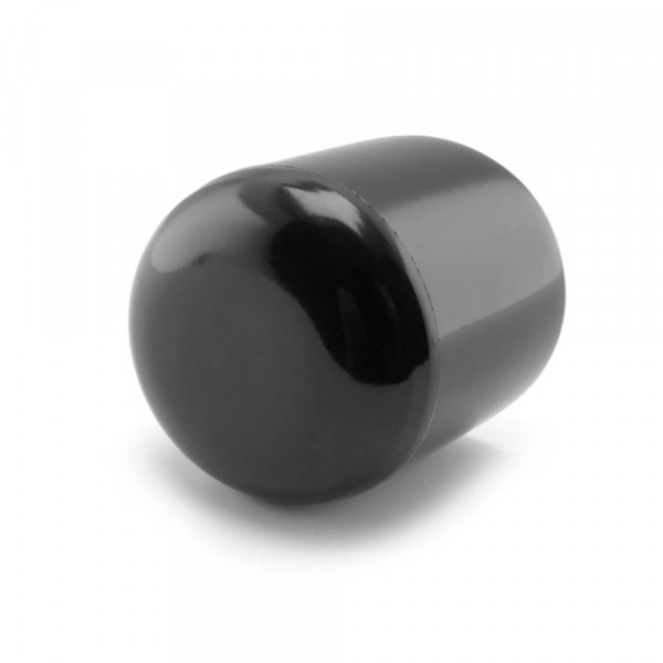 Runde Kappen schwarz 18 mm