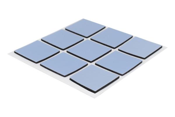 PTFE Klebegleiter dünn eckig 24 x 24 mm