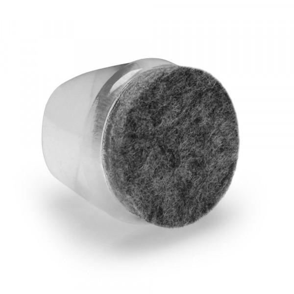 Filz Fusskappen transparent 25-28 mm