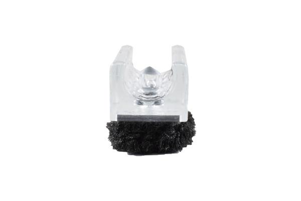 Chairfixx Klemmgleiter transparent 12 mm mit Zapfen