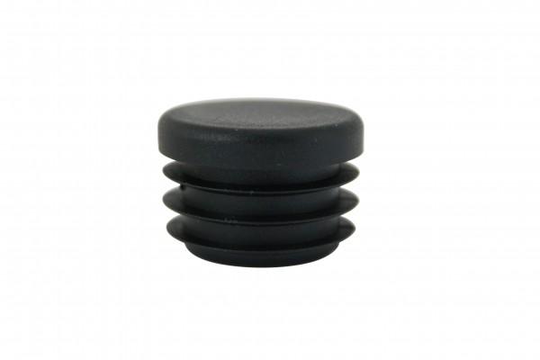 Runde Stopfen schwarz 21,5 mm
