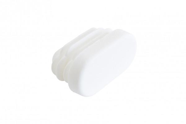 Lamellenstopfen oval 30 x 15 mm weiss