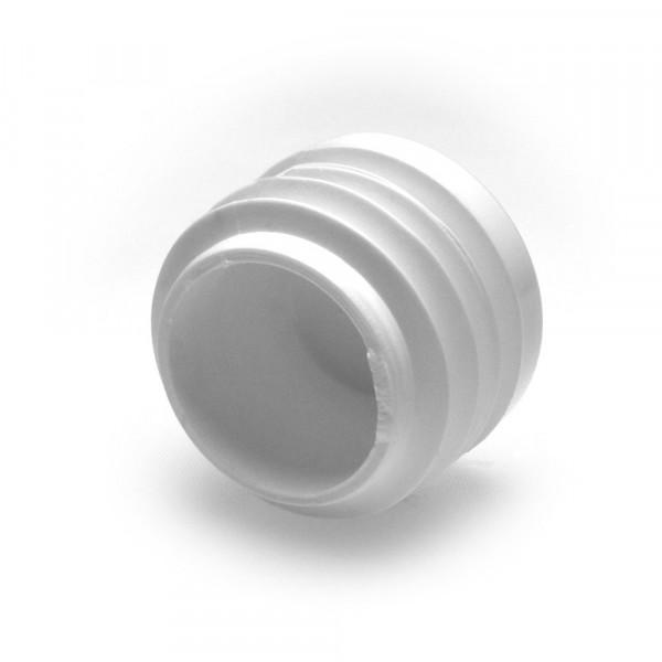Runde Stopfen weiss 25 mm
