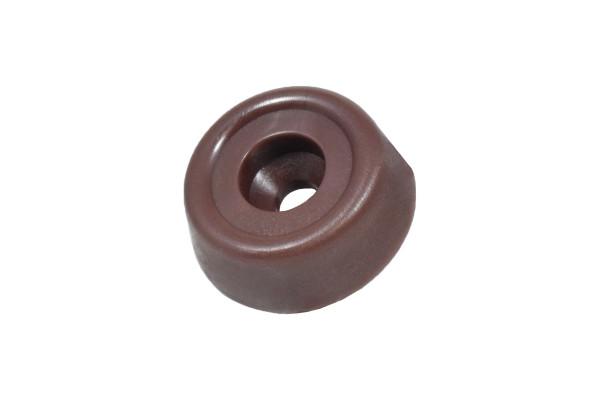 Kunststoffgleiter zum Schrauben 20 mm braun