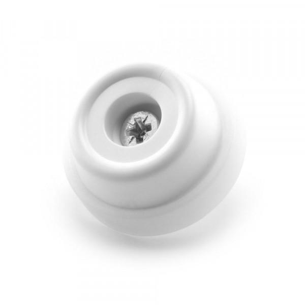 Schraubstopper 28 mm weiß