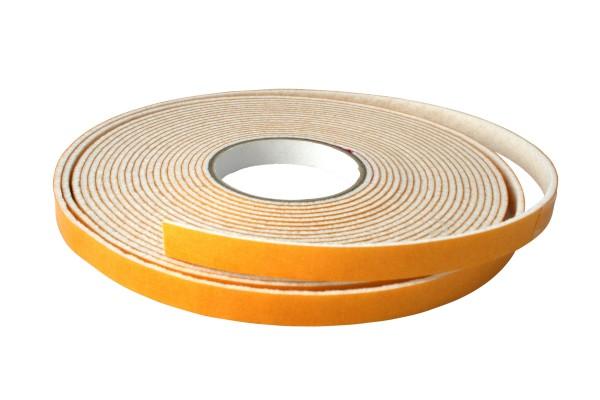 Filzband - Weiss - selbstklebend - 6 mm