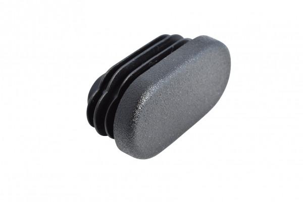 Lamellenstopfen oval 38 x 20 mm schwarz