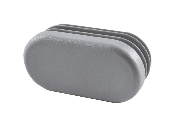 Lamellenstopfen oval 40 x 20 mm grau