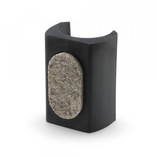 Klemmgleiter Filz mit Zapfen schwarz