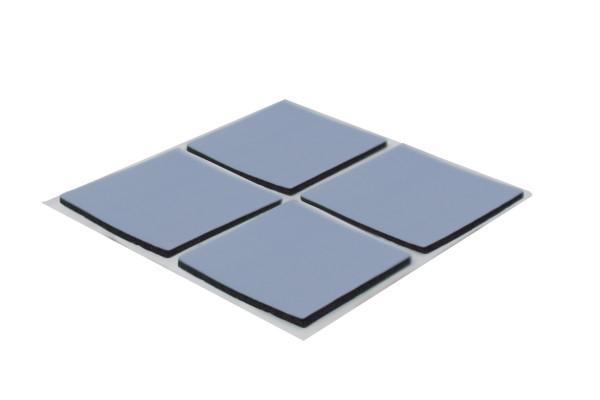 PTFE Klebegleiter dünn eckig 28 x 28 mm